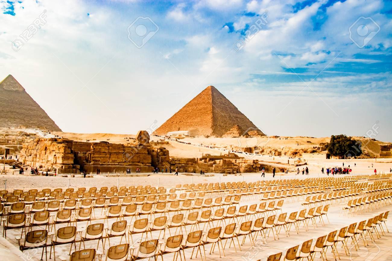 Pyramids Giza Egypt Ancient Arch
