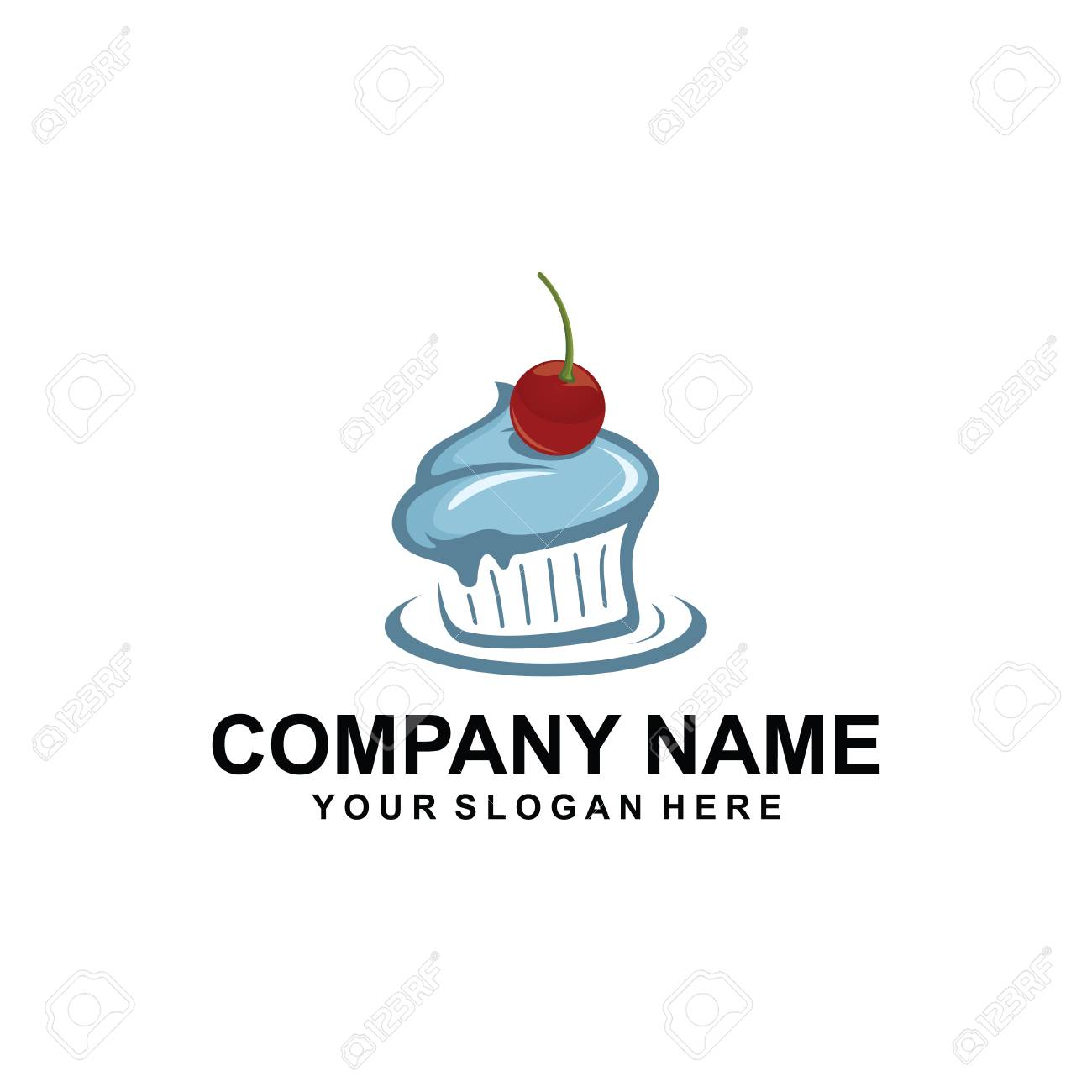 Cake Logo Design Royalty Free Cliparts Vectors And Stock
