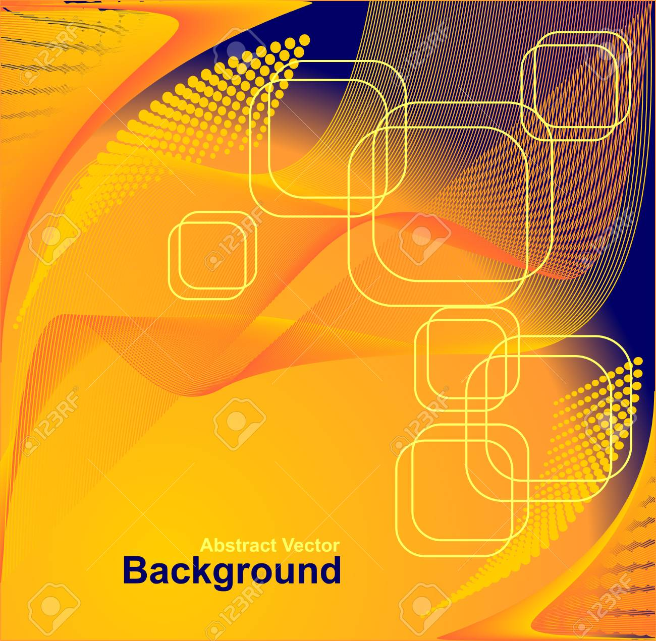 Abstract Background In Orange Dark Blue Colors