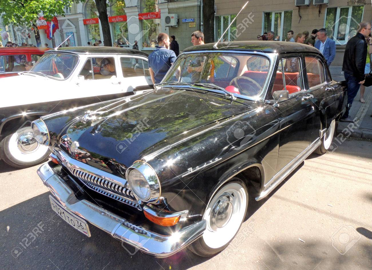Soviet Retro Cars Of Sedan Gaz Volga On The Street