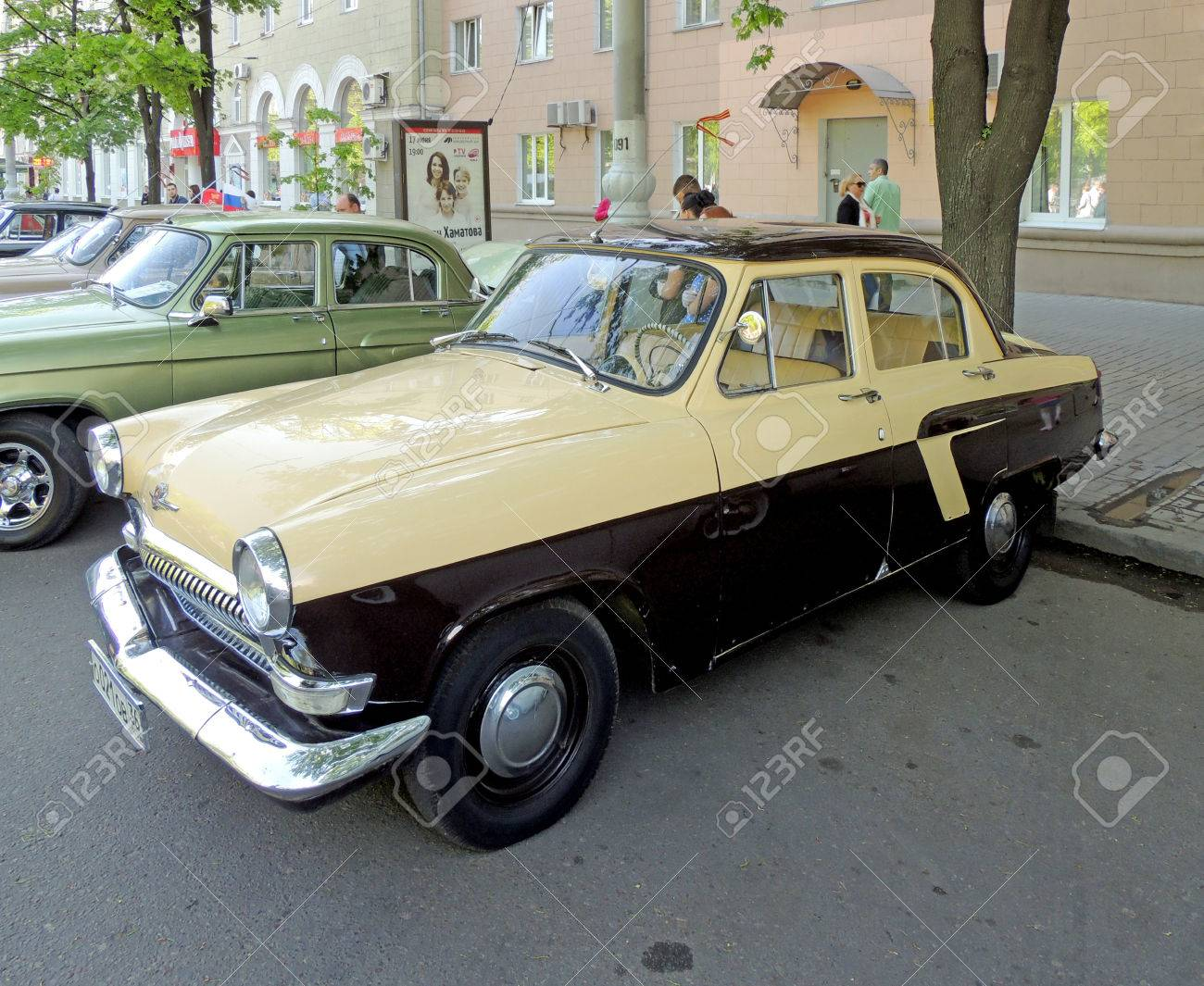 Retro Car Of Ussr Of Sedan Gaz Volga On The Street