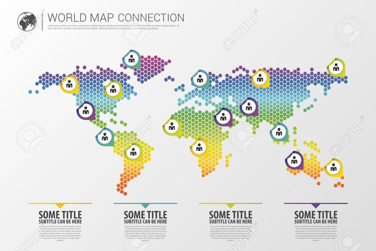 Colorful modern infographic world map connection concept vector colorful modern infographic world map connection concept vector illustration stock vector 45157967 gumiabroncs Images
