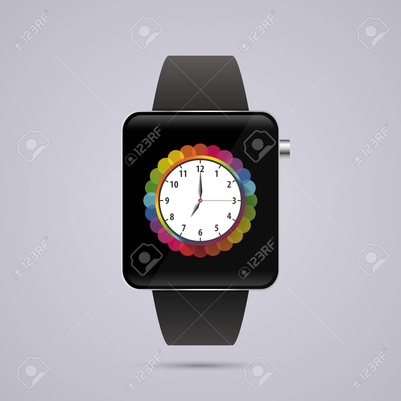 los Angeles 179c2 3ff6c Reloj inteligente moderno. Plantilla de reloj digital. Ilustración vectorial