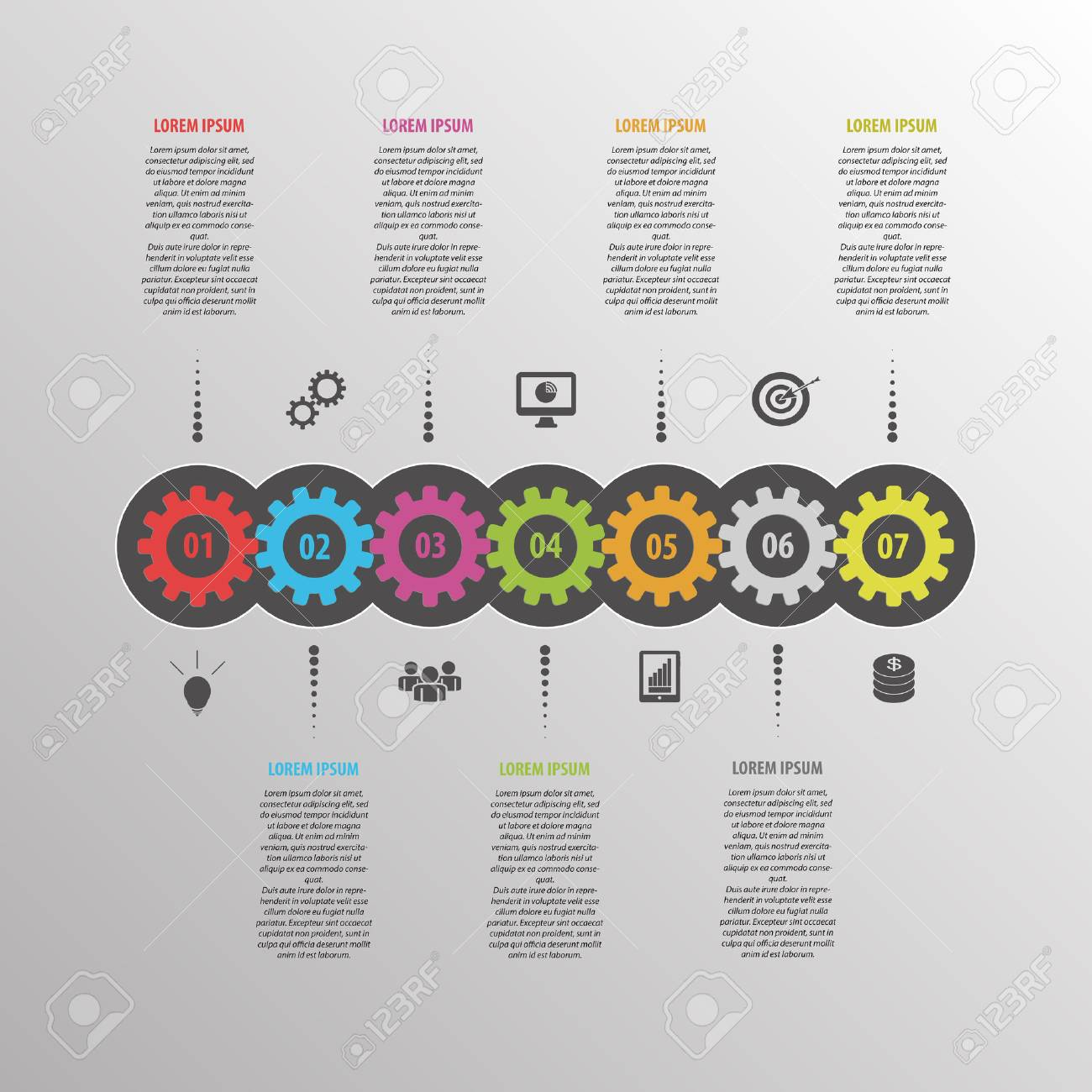 Abstract infographic vector. Business template with gear - 45340611