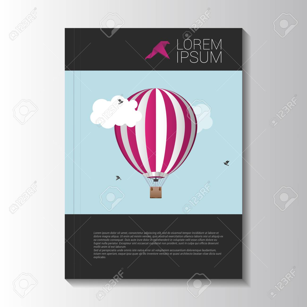 travel brochure template vector illustration royalty free cliparts