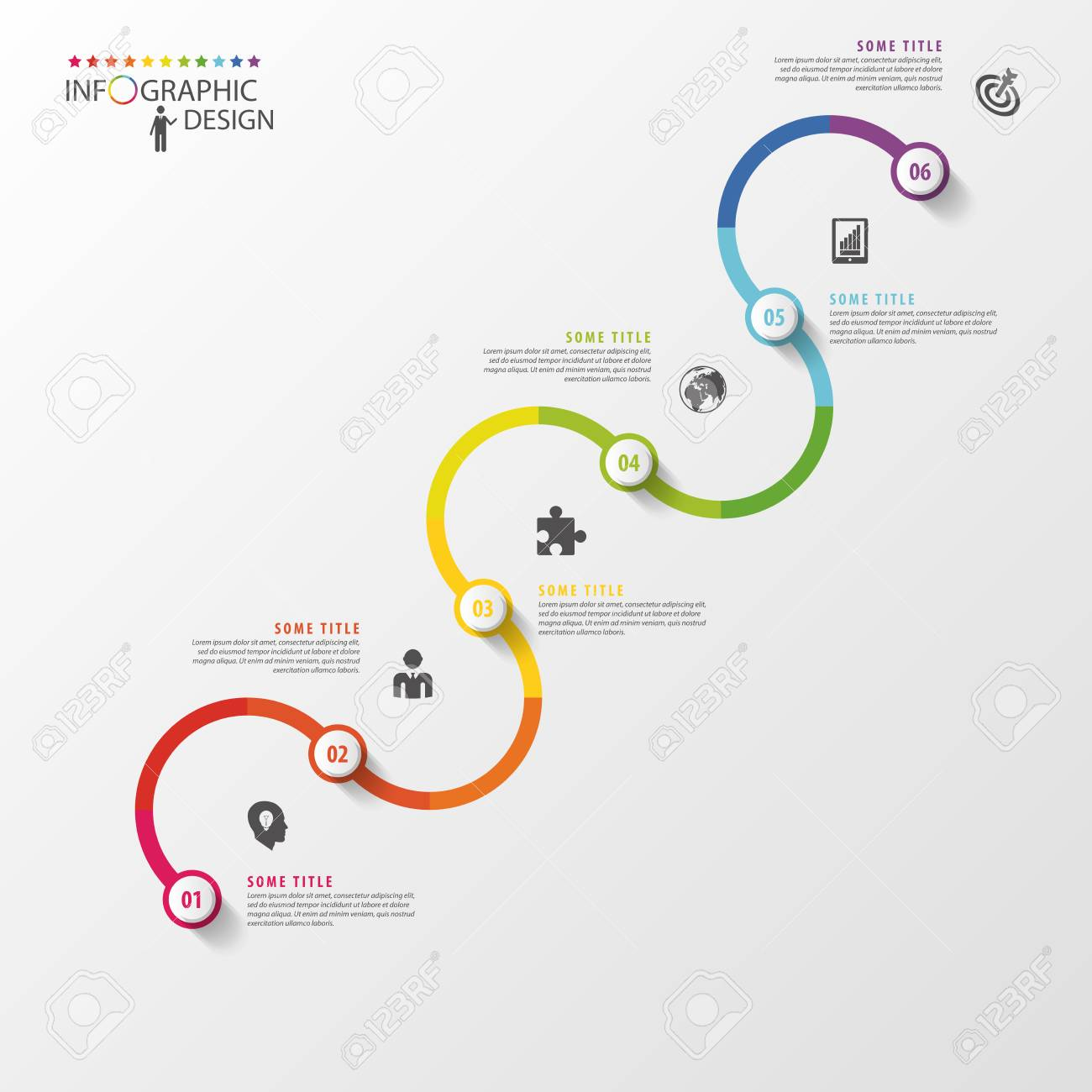 abstract timeline infographic template vector illustration royalty