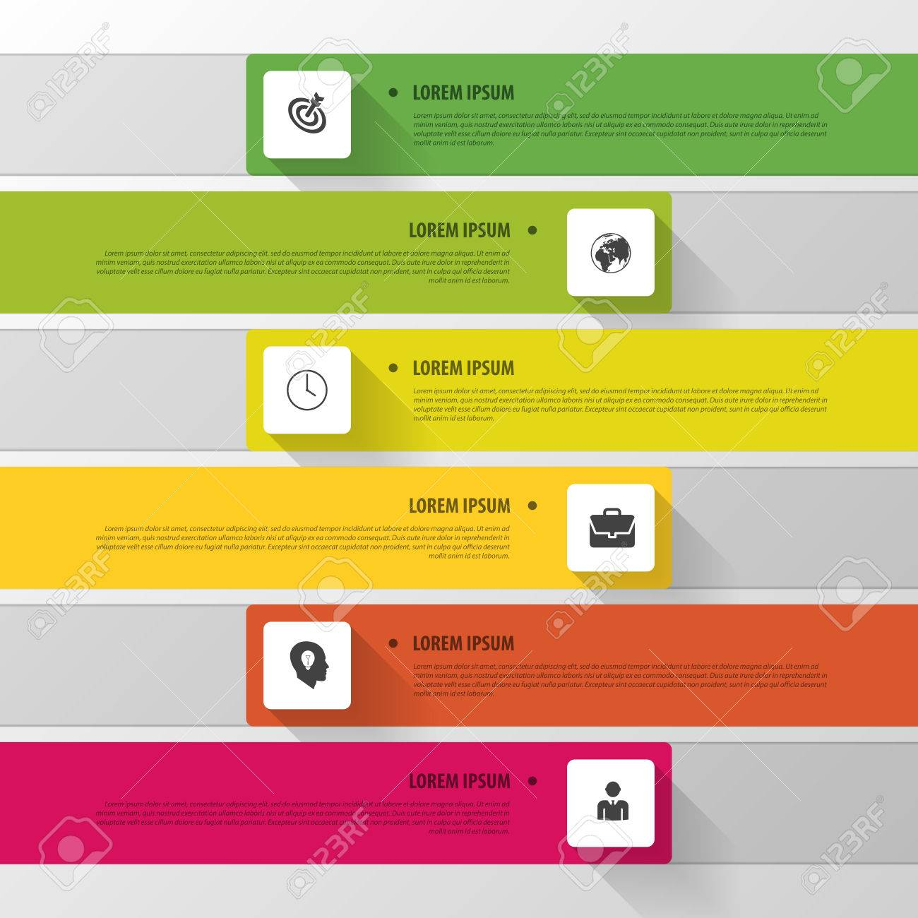 vector timeline infographic. modern simple design royalty free