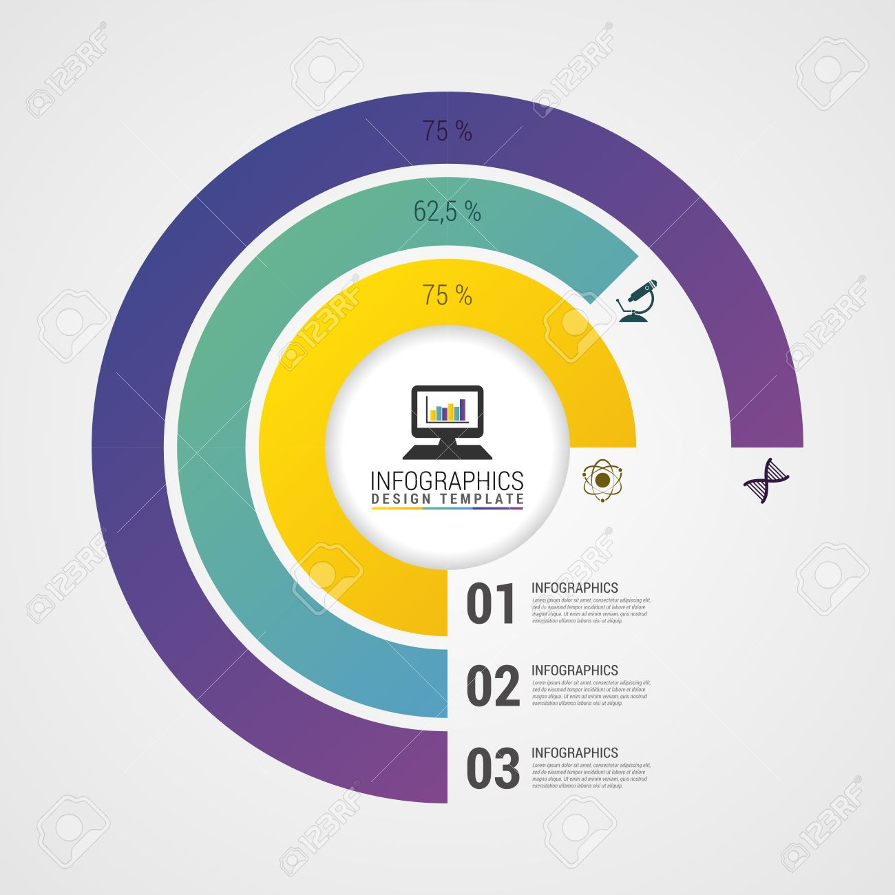 pie chart circle graph. modern infographics design template