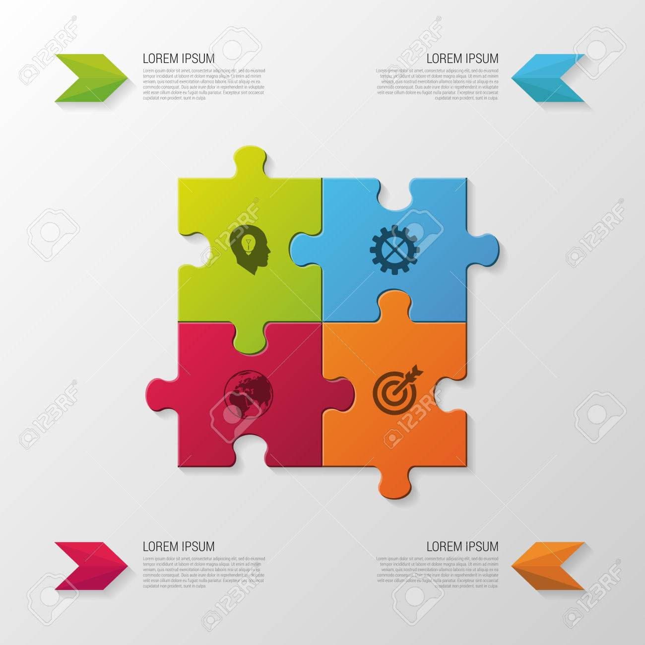 Puzzle piece modern infographics business concept vector imagens puzzle piece modern infographics business concept vector illustration ccuart Gallery