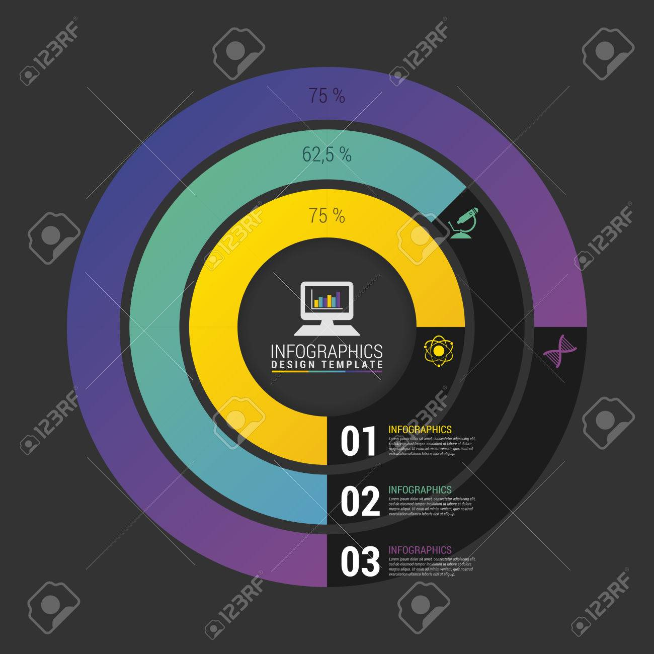 Pie chart circle graph modern infographics design template vector banco de imagens pie chart circle graph modern infographics design template vector ccuart Choice Image
