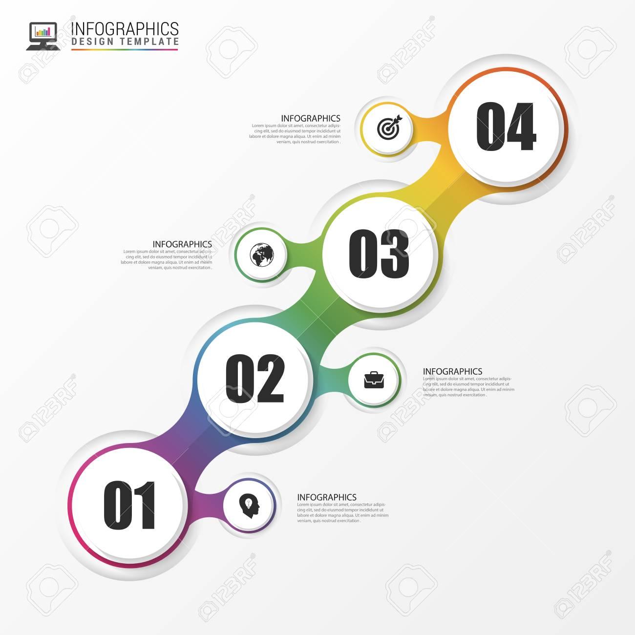 Trayectoria Empresarial De Colores De Fondo. Infografía Plantilla De ...