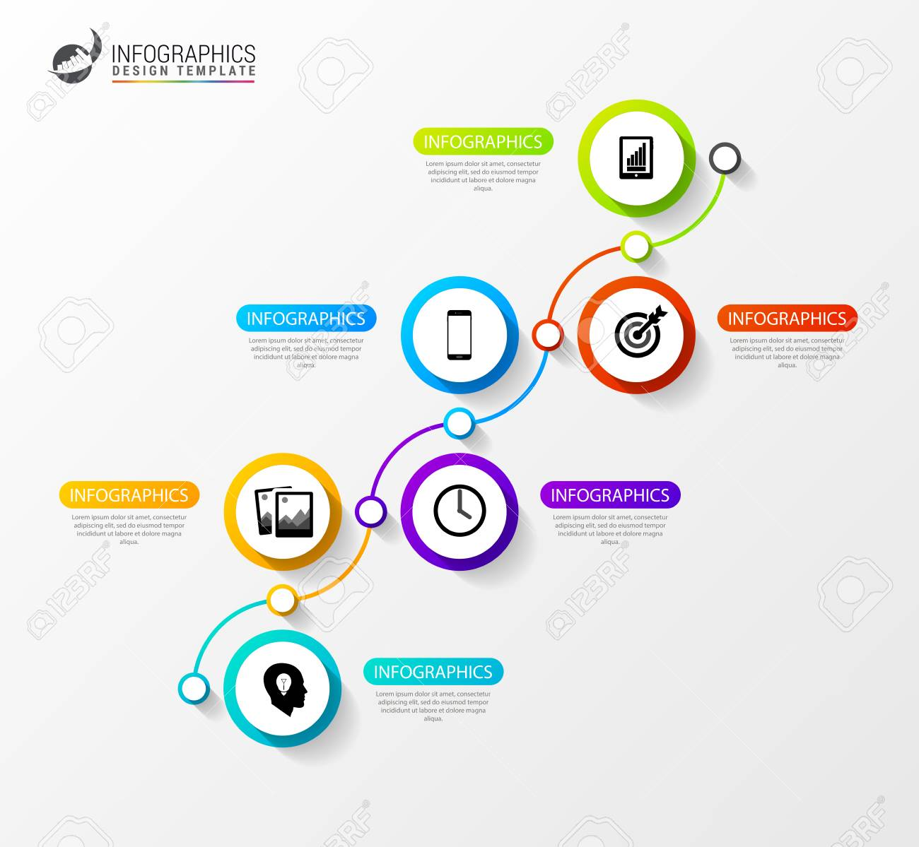 timeline infographics template. creative business concept. vector