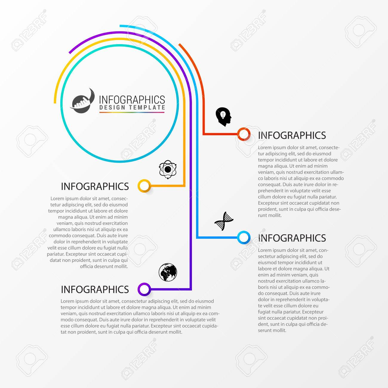 Abstract Colorful Business Path Timeline Infographic Template - Timeline infographic template