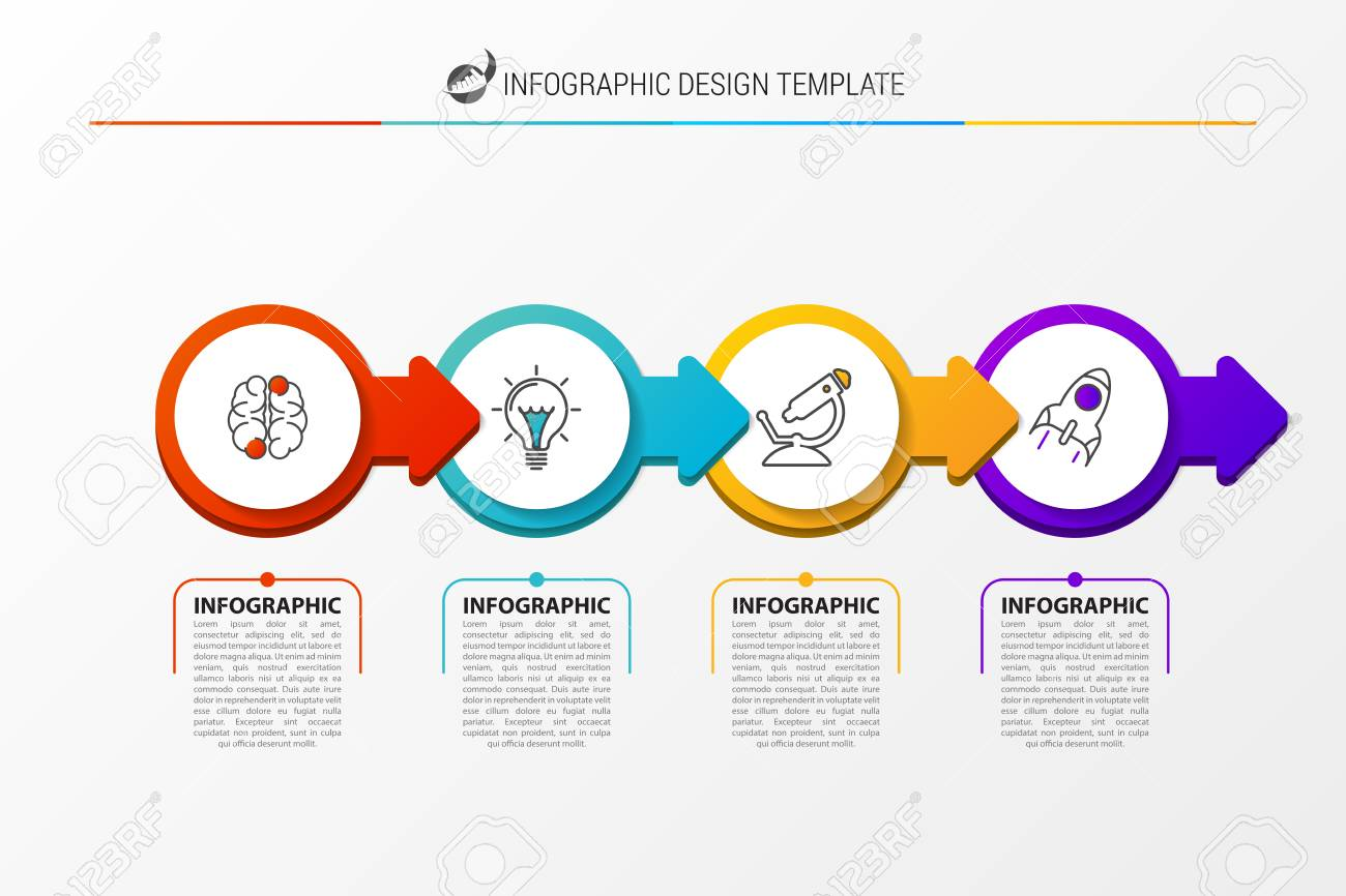 Infographic design template business concept with 4 steps can infographic design template business concept with 4 steps can be used for workflow layout cheaphphosting Choice Image