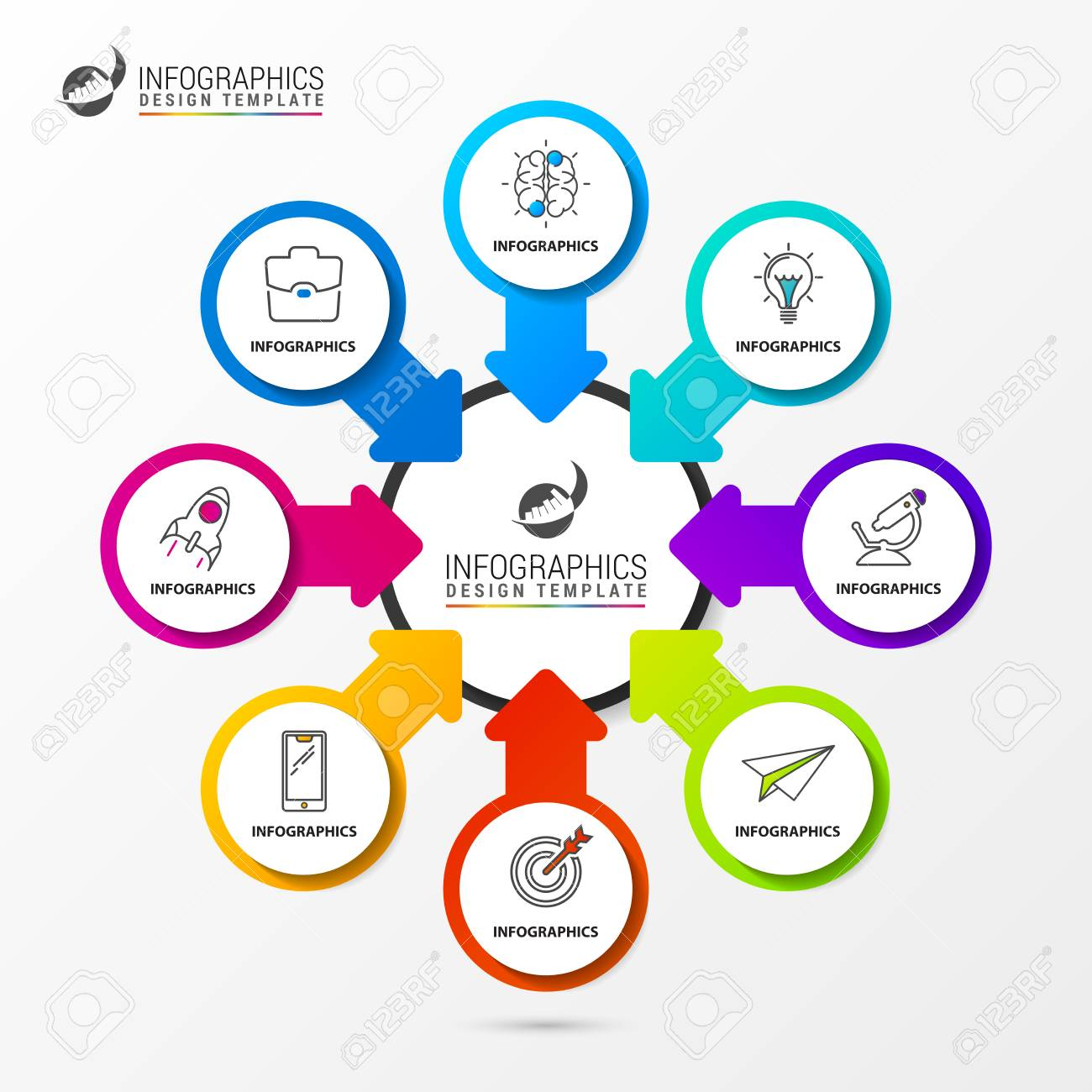 Infographic Design Template Organization Chart With Steps Vector