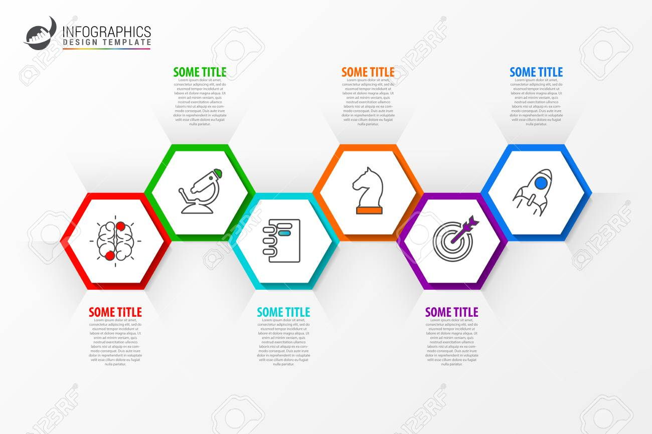 infographic design template timeline concept with 6 steps can be