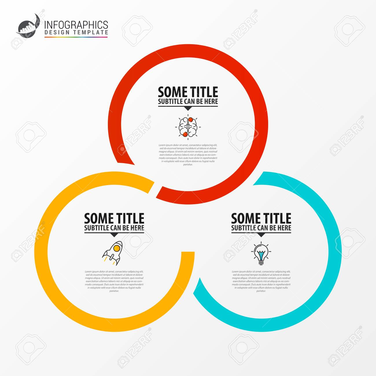 Infographic design template. Creative concept with 3 steps. Can be used for workflow layout, diagram, banner, webdesign. Vector illustration - 120202550