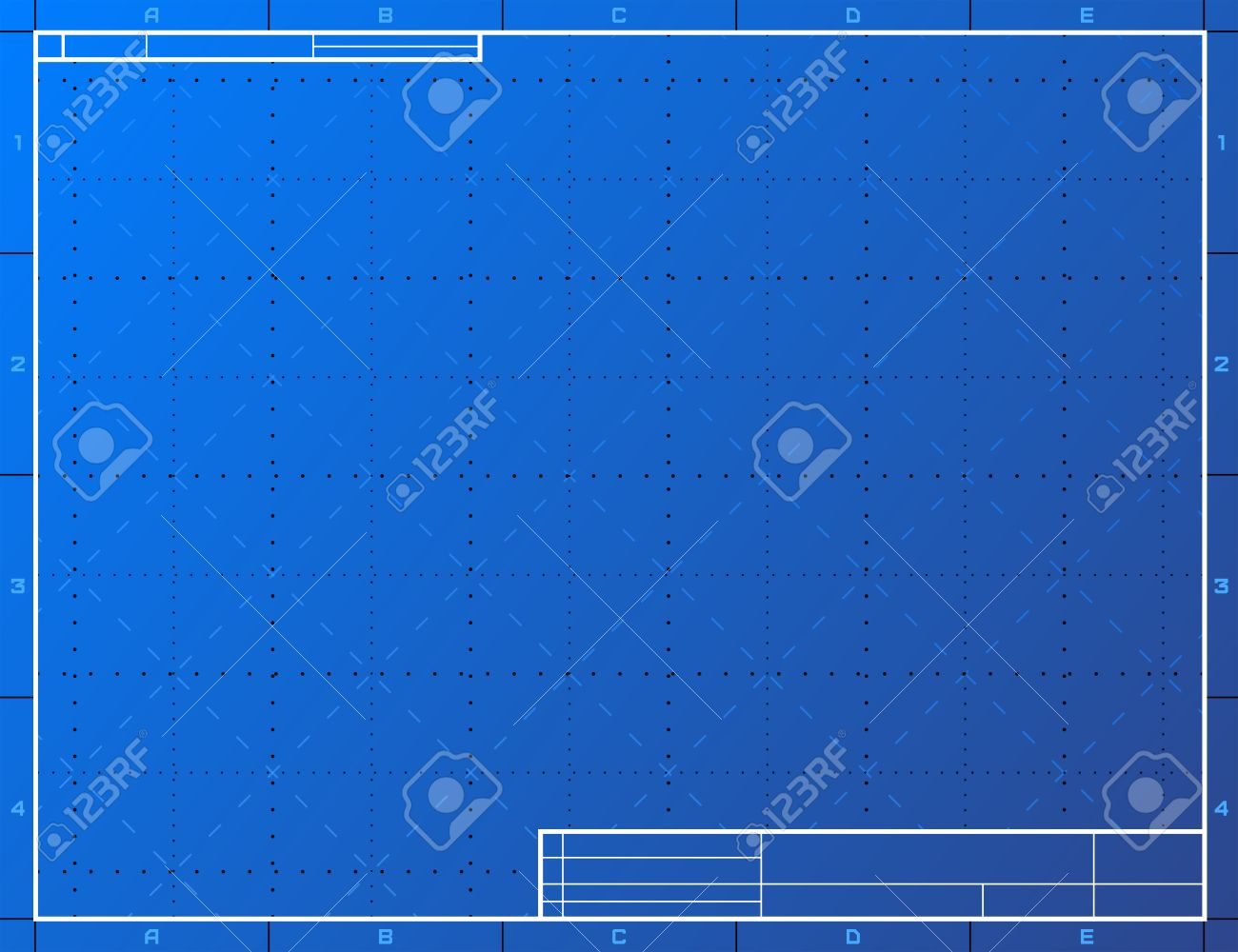 Blank blueprint paper for drafting drawing sheet layout with blank blueprint paper for drafting drawing sheet layout with frame and title block stock vector malvernweather Gallery