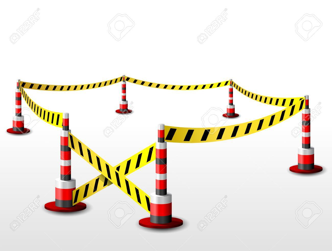 Empty fenced restricted area Stock Vector - 27420449