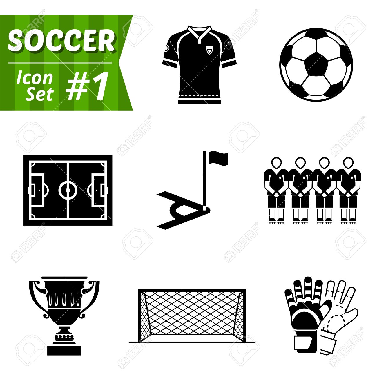 Icons set of soccer elements collection of symbols for association icons set of soccer elements collection of symbols for association football stock vector 28526257 biocorpaavc Gallery