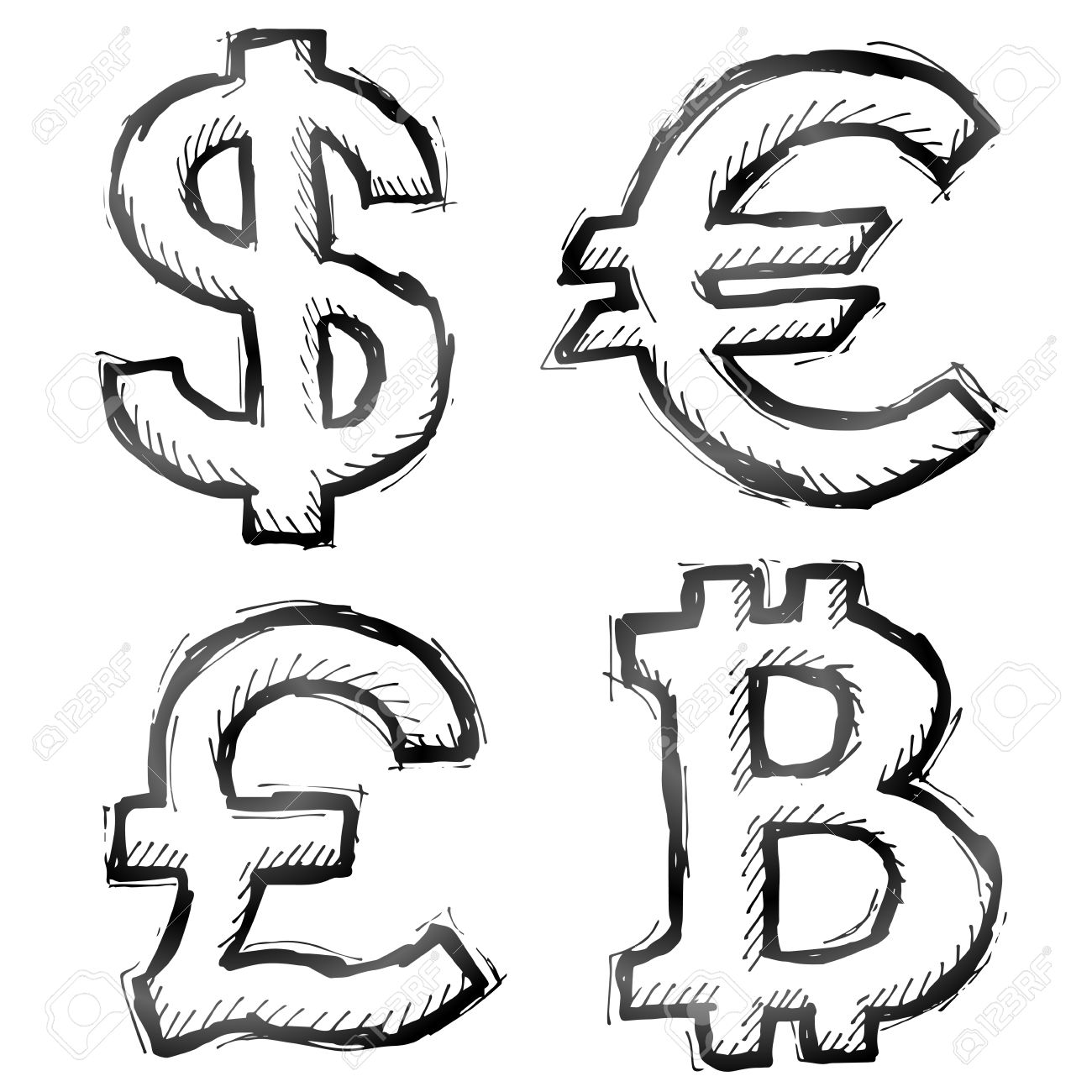 Hand drawn money symbols sketch of currency signs in doodle hand drawn money symbols sketch of currency signs in doodle style stock vector 30521551 biocorpaavc Choice Image