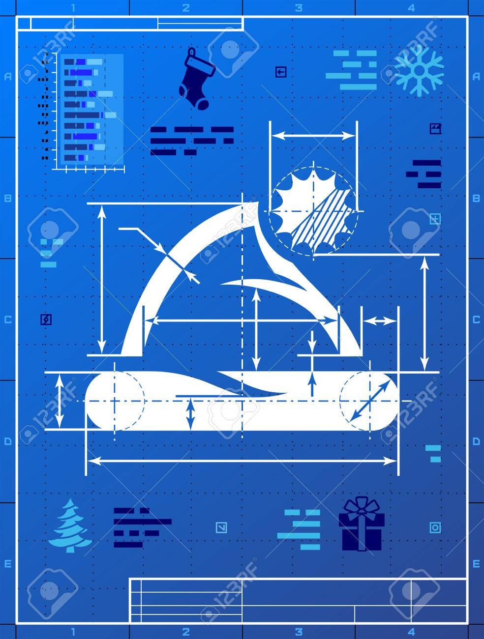 Santa hat like blueprint drawing stylized drafting of christmas hat santa hat like blueprint drawing stylized drafting of christmas hat on blueprint paper foto malvernweather Choice Image
