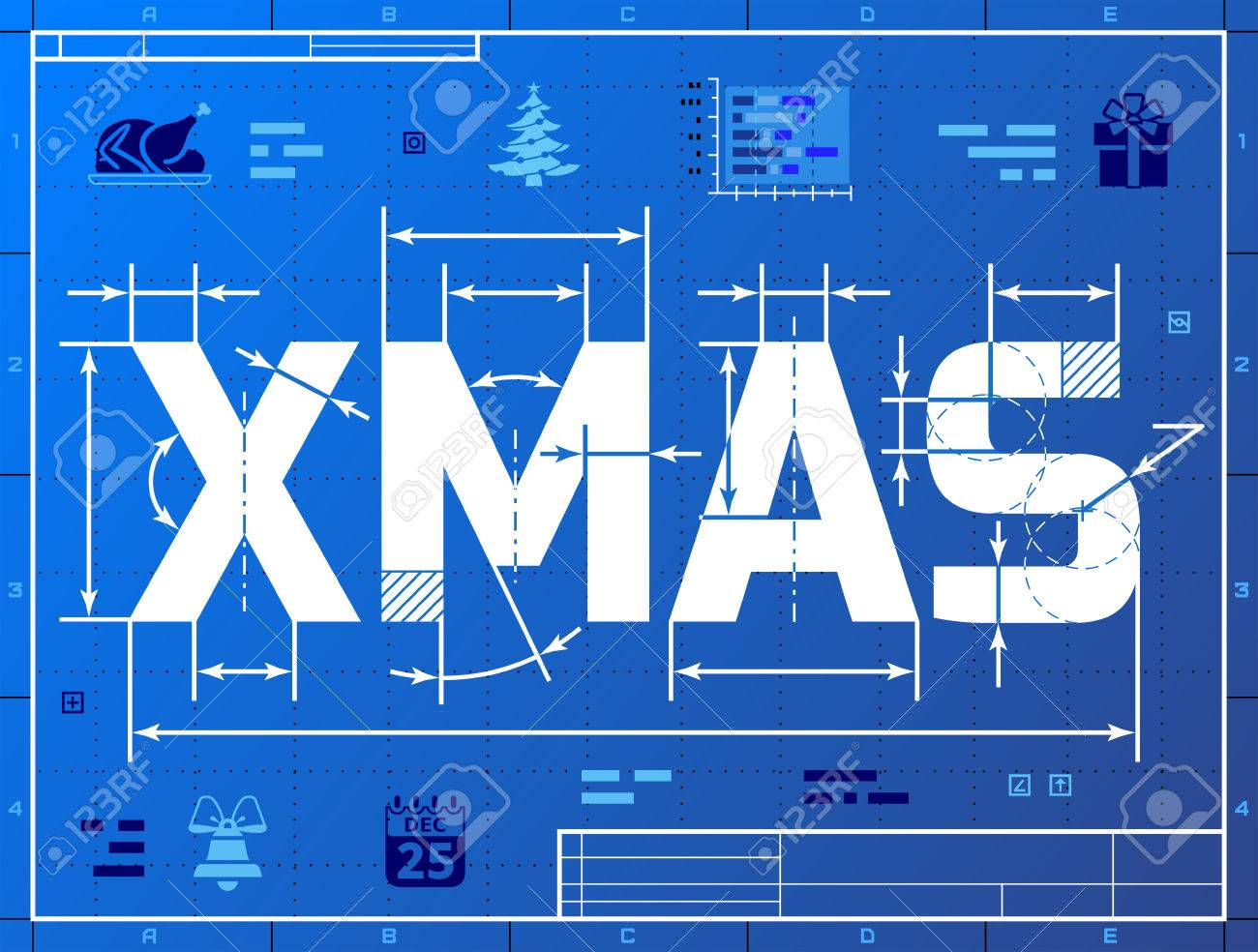 Word xmas like blueprint drawing stylized drafting of christmas new years eve silvester etc word xmas like blueprint drawing stylized drafting of christmas on blueprint paper qualitative vector malvernweather Image collections