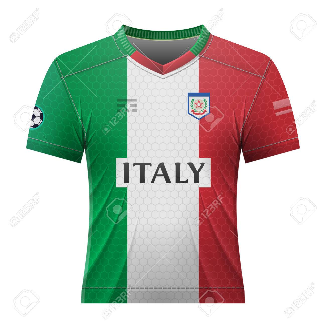new products 649ec 17c02 Soccer shirt in colors of italian flag. National jersey for football..