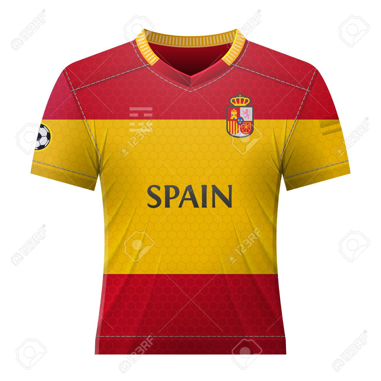 new product 5a81a 6925b Soccer shirt in colors of spanish flag. National jersey for football..