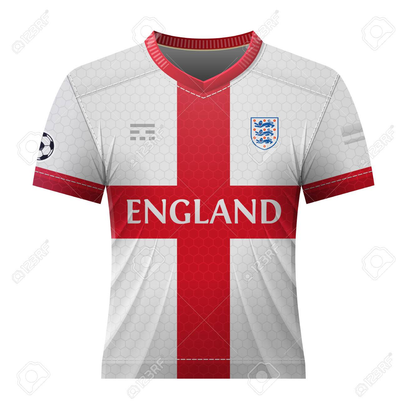 best cheap 730d6 a4c2c Soccer shirt in colors of english flag. National jersey for football..