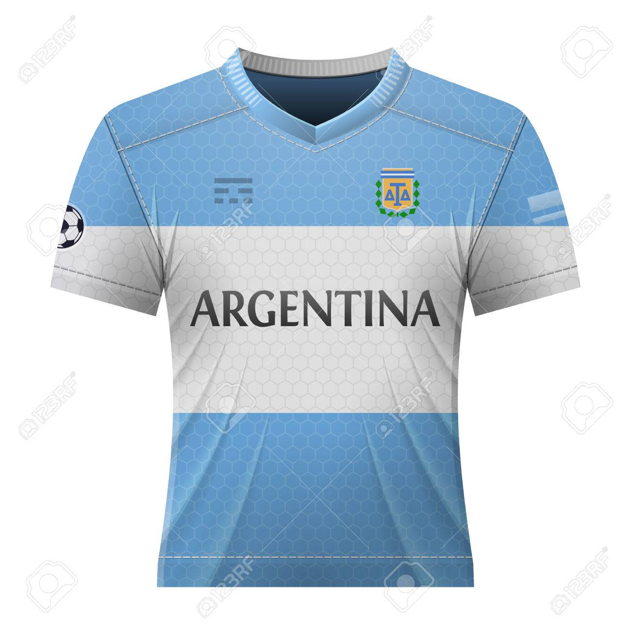 Soccer shirt in colors of argentinean flag. National jersey for football  team of Argentina. a36b12778