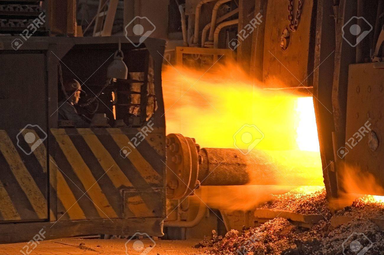 Ukrainian metallurgical works. Pipe rolling machinery. Stock Photo - 5957251