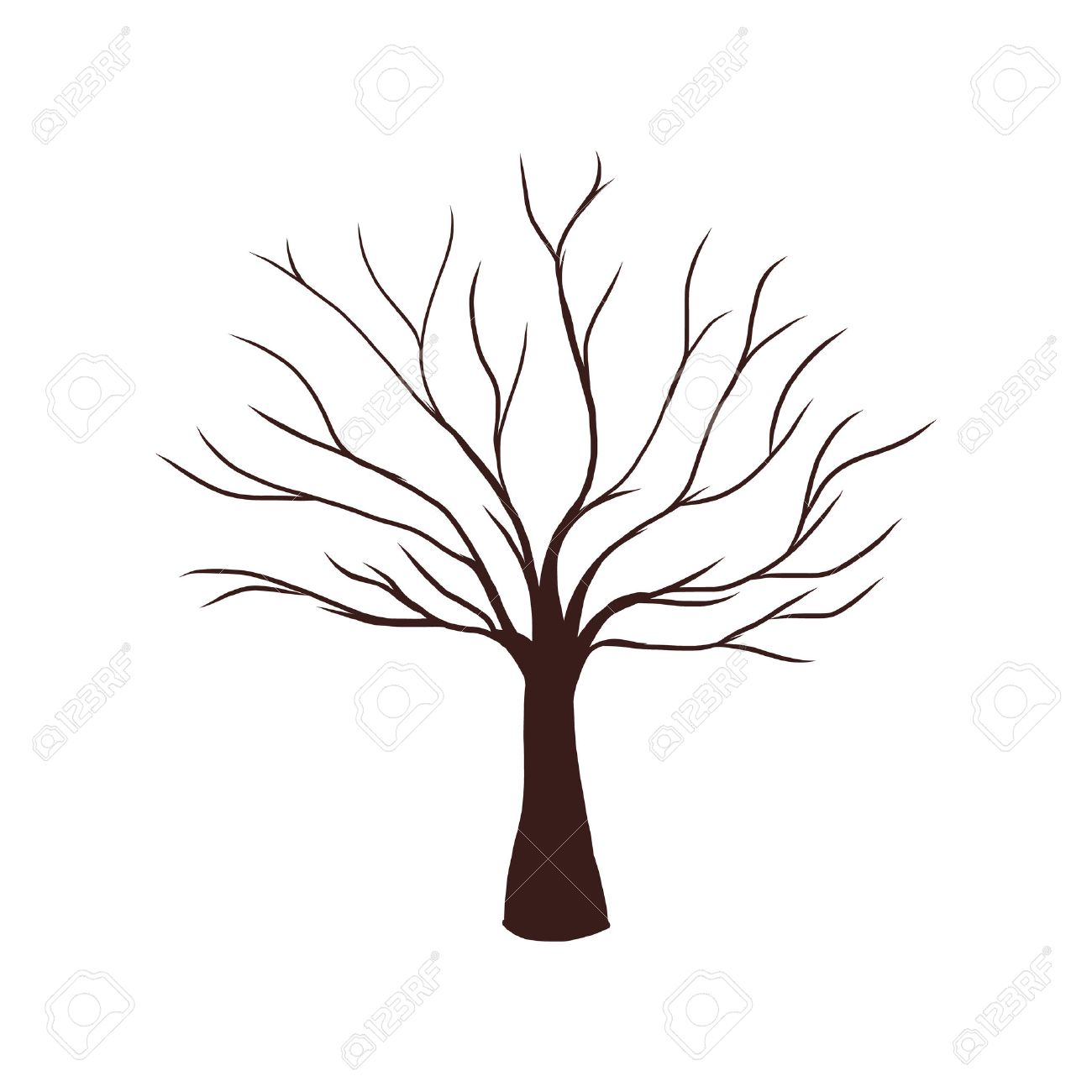 Dead Tree without Leaves How To Draw A Cartoon Tree Without Leaves
