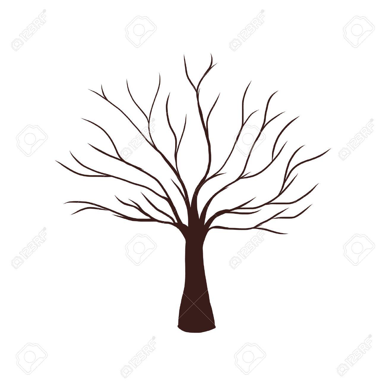 Fingerabdruck Baum Vorlage Baum Gestaltung 8