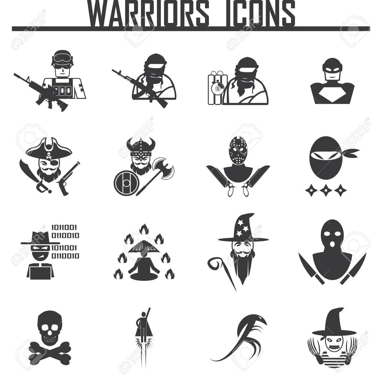 ancient warrior character for good alliance icon symbol sign royalty