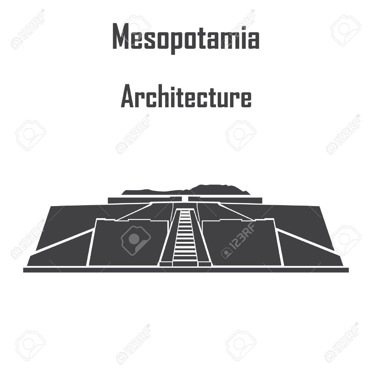 Mesopotamia architecture, ziggurat icon vector. - 50556707