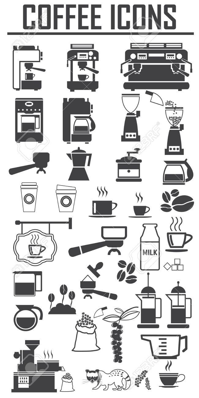 coffee icons set. Big pack - 53831891
