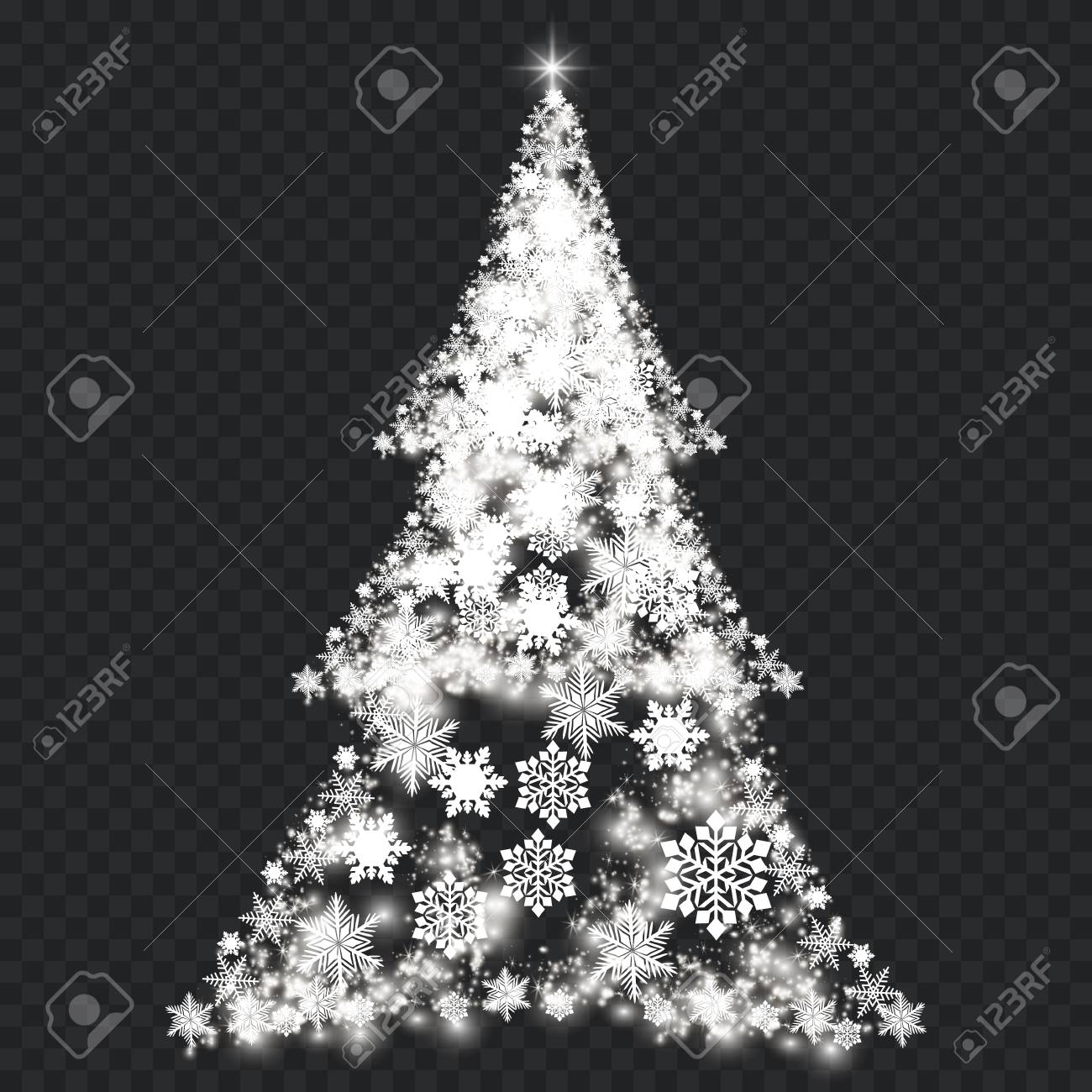 silver christmas tree on transparent background royalty free cliparts vectors and stock illustration image 88362885 silver christmas tree on transparent background