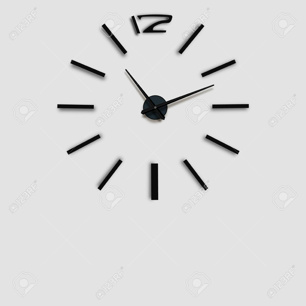 Wall Clock Office. Template Design In Vector Closeup. The Layout ...