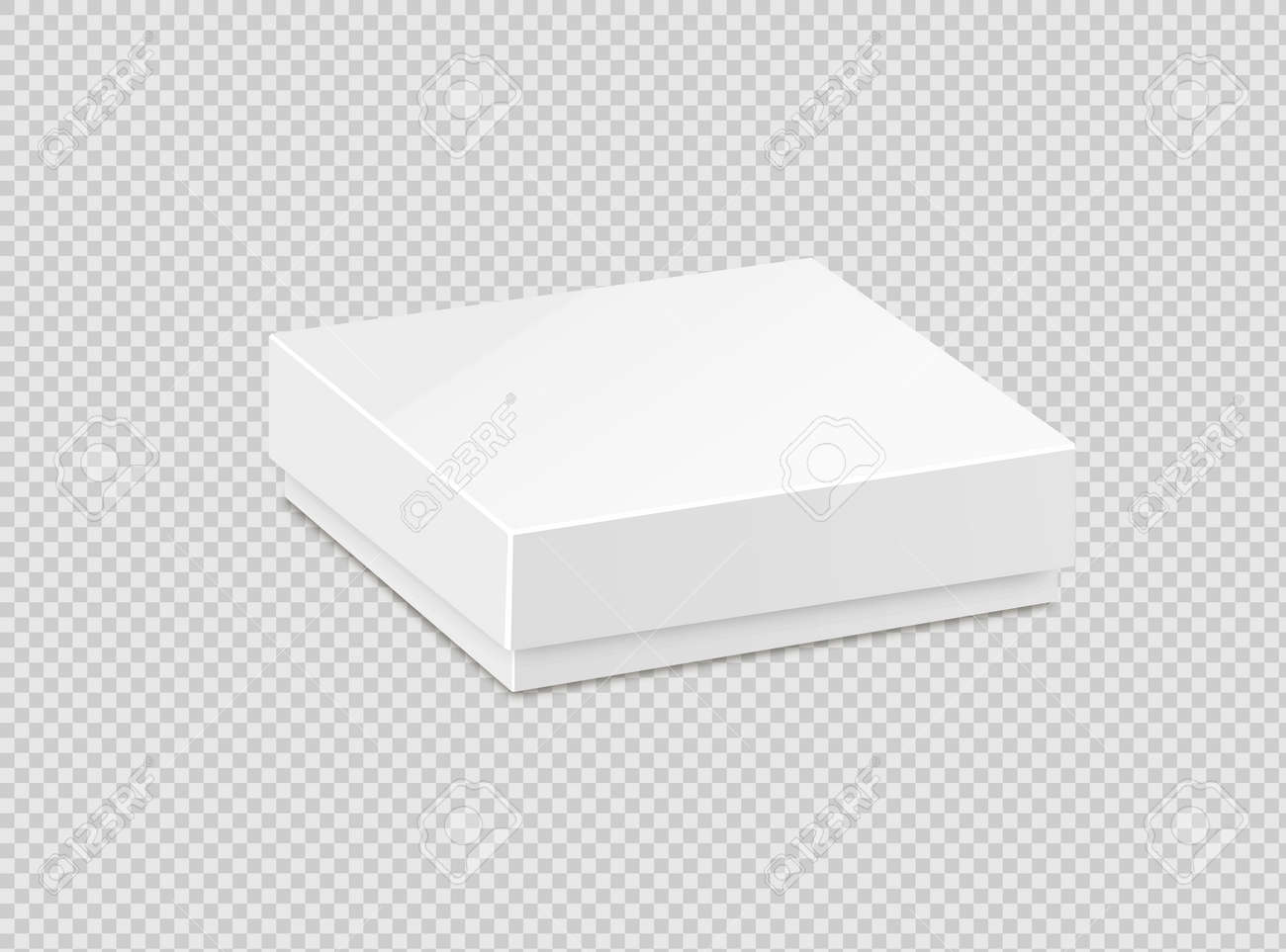 Product Cardboard Package Box. Illustration Isolated On White Background. Mock Up Template Ready For Your Design - 169116542