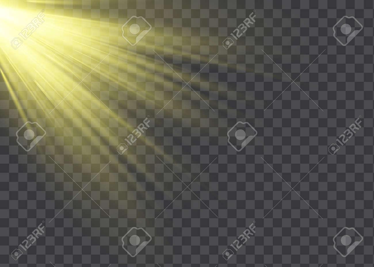 Vector transparent sunlight special lens flash light effect - 169116565