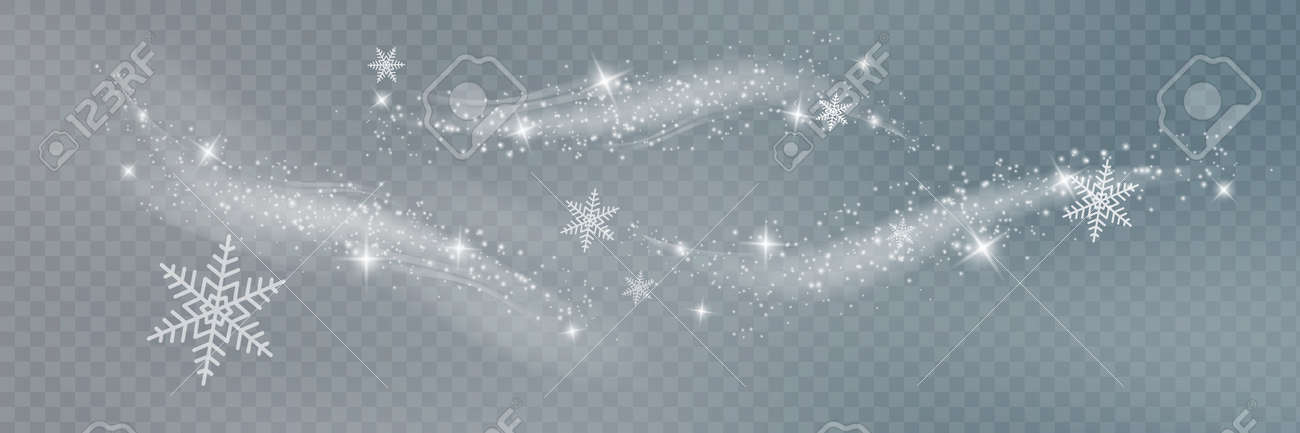 Snow and wind on a transparent background. White gradient decorative element.vector illustration. winter and snow with fog. - 169711902