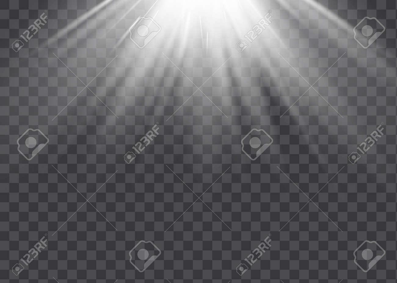 Vector spotlight. Light effect.Vector transparent sunlight special lens flare light effect - 169711919