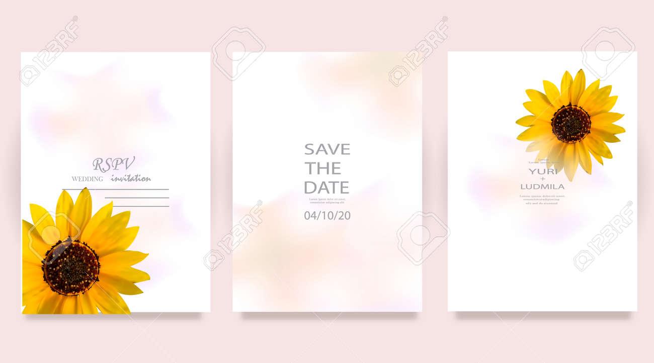 Dusty pink and ivory beige rose, pale hydrangea, fern, dahlia, ranunculus, fall leaf bunch of flowers invitation card - 169711917