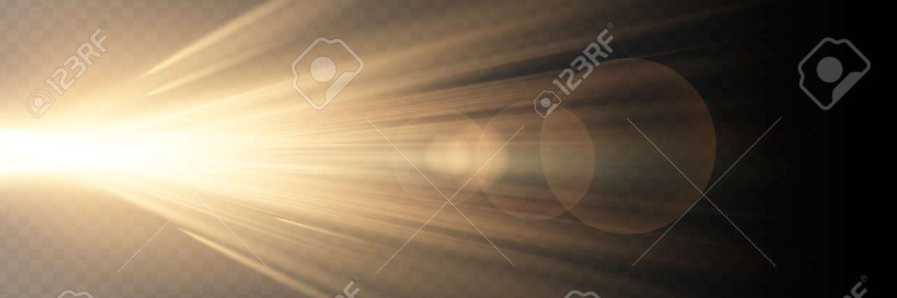 Vector transparent sunlight special lens flare light effect - 169711995