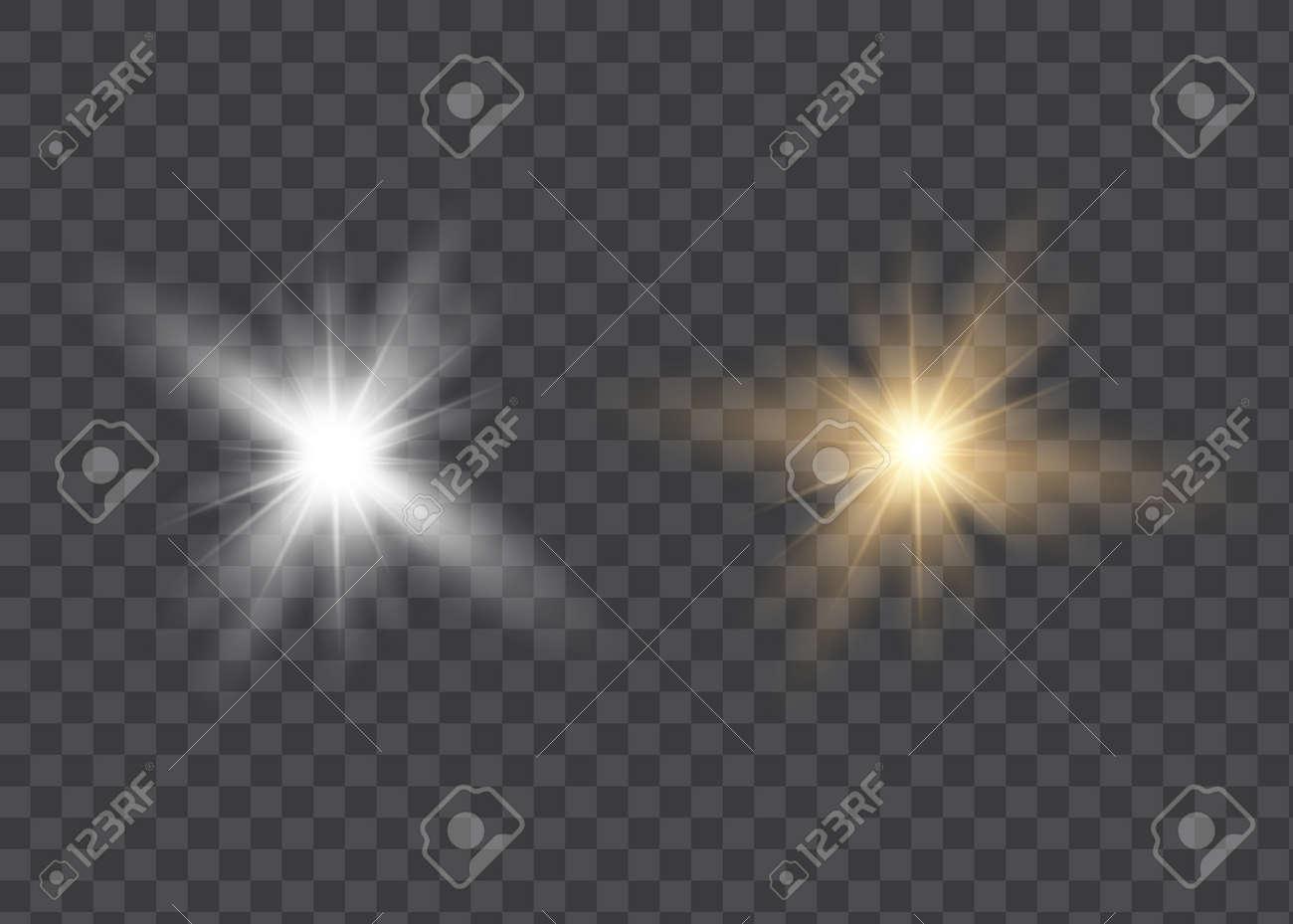 Vector transparent sunlight special lens flare light effect - 169711997