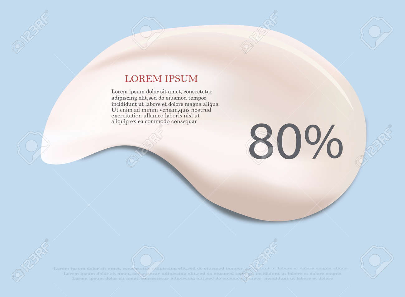 Cream texture stroke isolated on transparent background. Facial creme, foam, gel or body lotion skincare icon. Vector face cream cosmetic product smear swatch. - 169711998