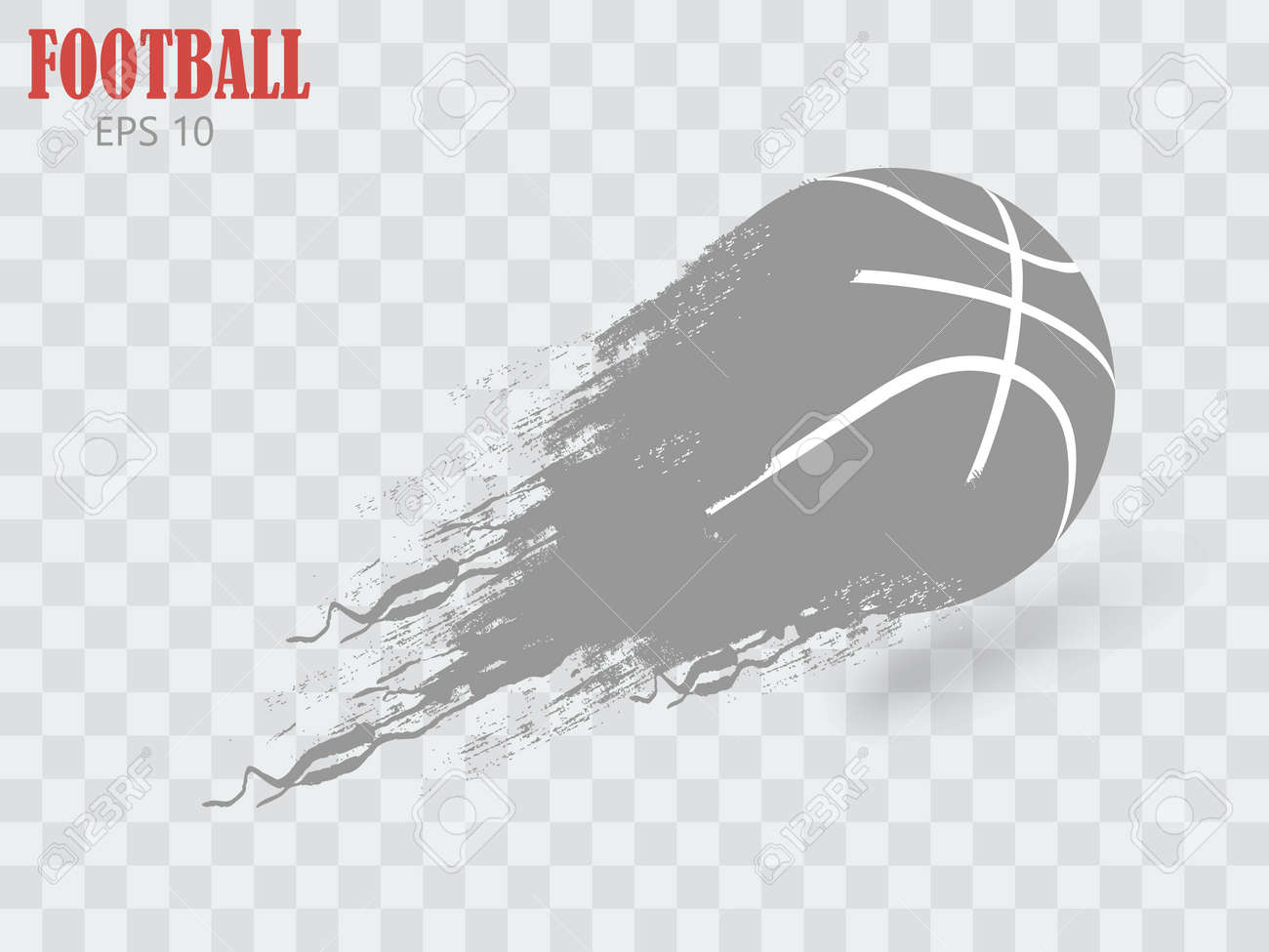 silhouette of a football ball. Background and text on a separate layer, color can be changed in one click. - 169712173