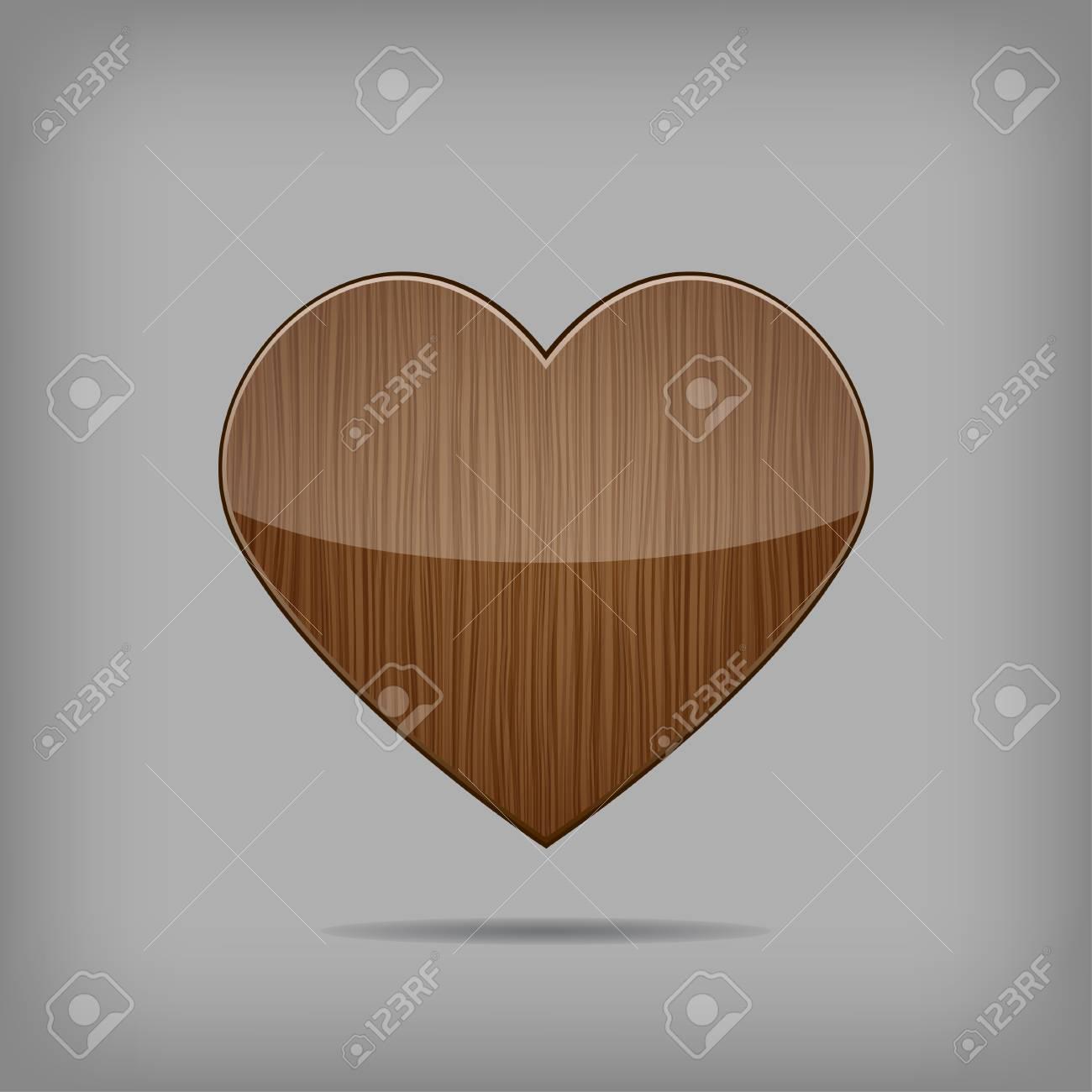 Creative vector wooden heart Stock Vector - 17449148