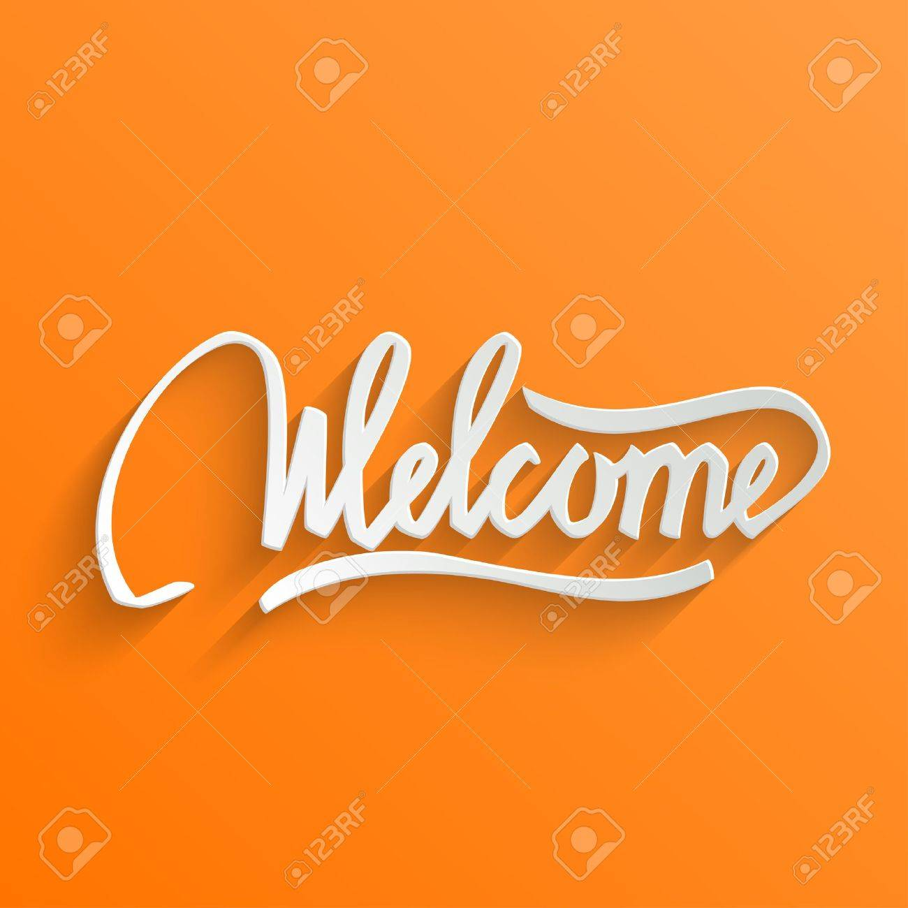 Welcome hand lettering greeting card typographical vector welcome hand lettering greeting card typographical vector background handmade calligraphy stock vector 31606671 kristyandbryce Choice Image